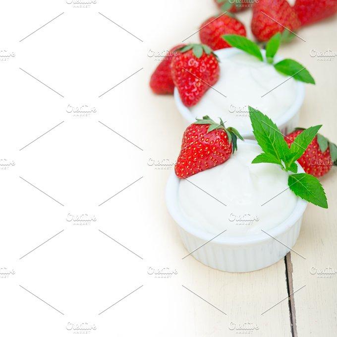 Greek organic yogurt and strawberries 037.jpg - Food & Drink