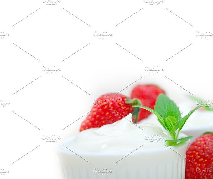 Greek organic yogurt and strawberries 039.jpg - Food & Drink