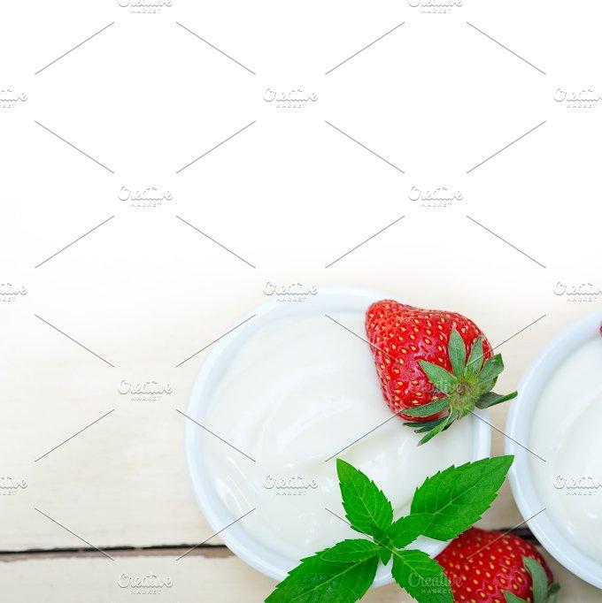 Greek organic yogurt and strawberries 045.jpg - Food & Drink