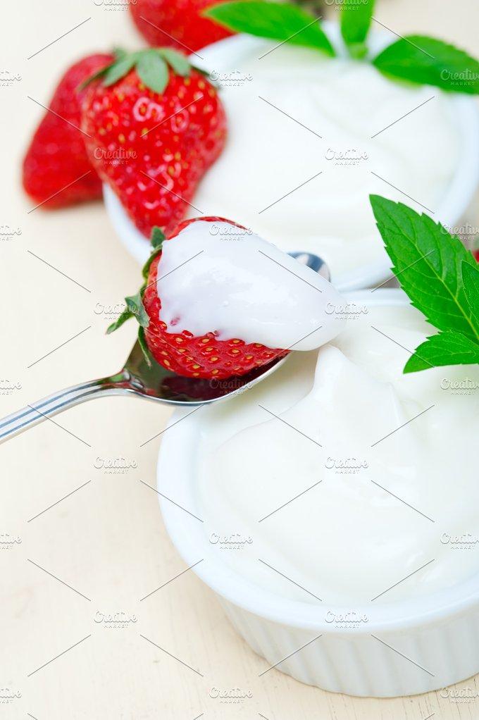 Greek organic yogurt and strawberries 048.jpg - Food & Drink