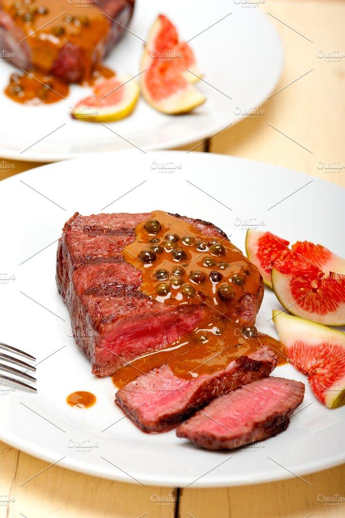 green peppercorn sauce filet mignon 002.jpg - Food & Drink