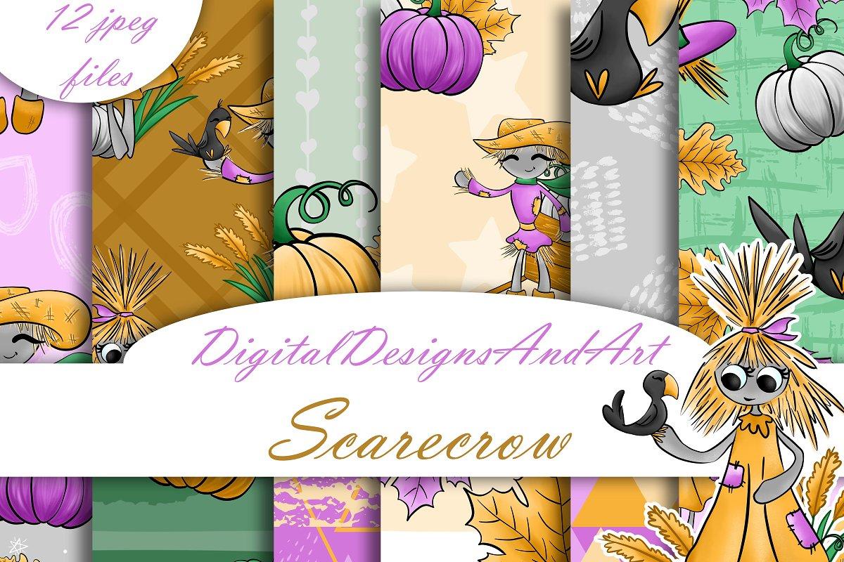 Scarecrow seamless paper