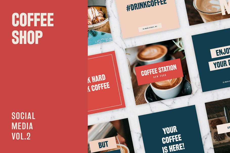 Coffee Station Social Media Kit