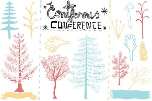 (PSD & PNG) Coniferous Conference