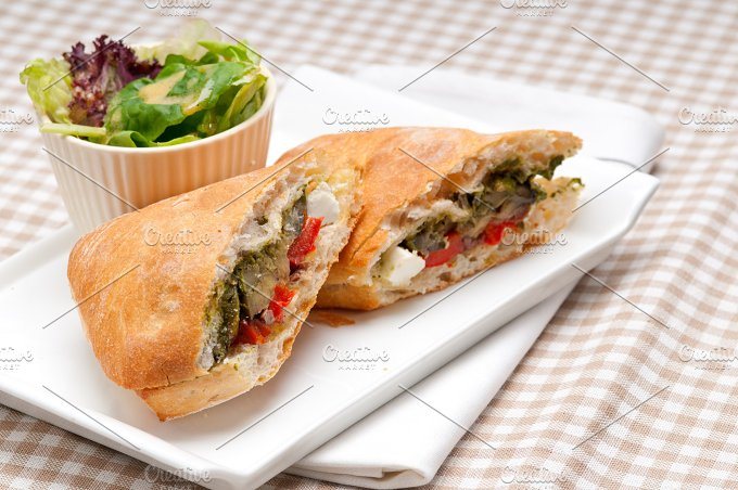 grilled vegetables and feta ciabatta sandwich 24.jpg - Food & Drink