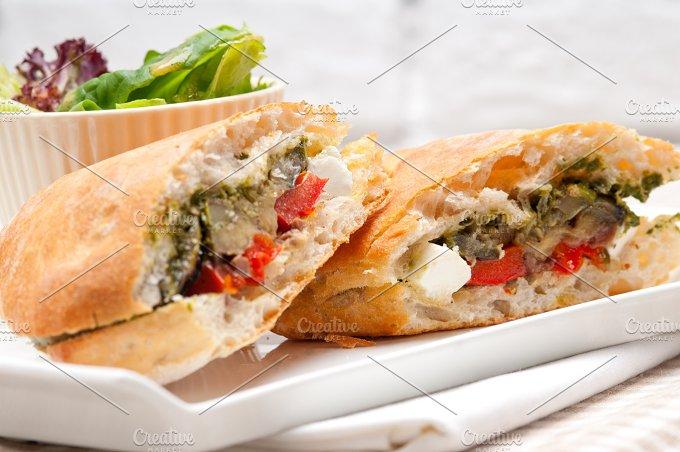 grilled vegetables and feta ciabatta sandwich 22.jpg - Food & Drink