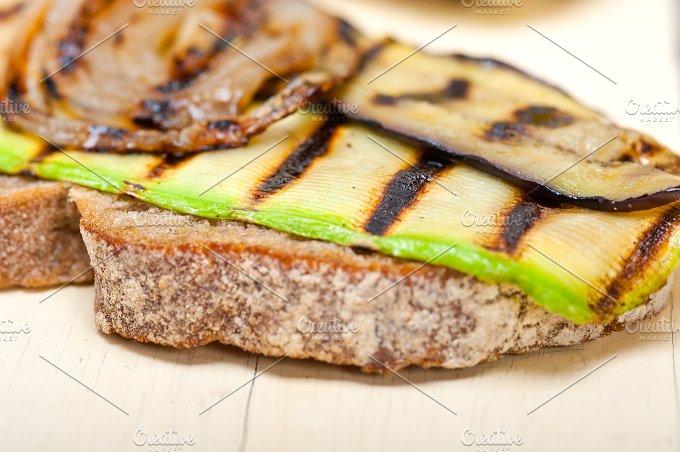 grilled vegetables on rustic bread 004.jpg - Food & Drink