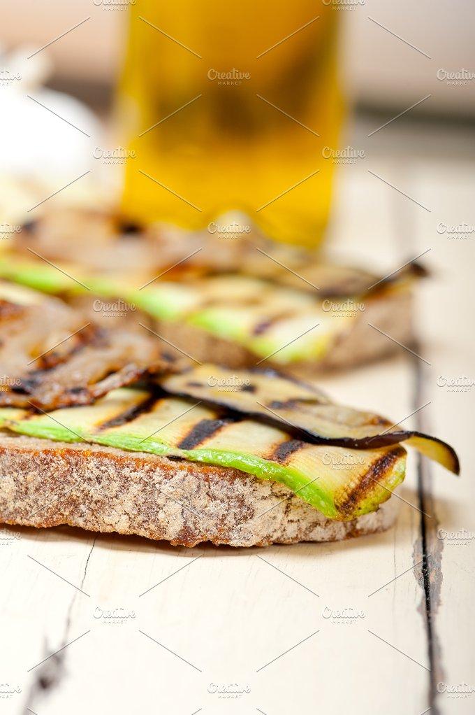 grilled vegetables on rustic bread 006.jpg - Food & Drink