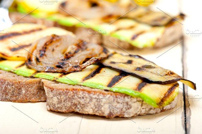 grilled vegetables on rustic bread 005.jpg - Food & Drink