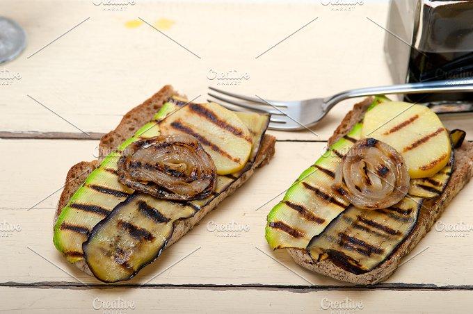 grilled vegetables on rustic bread 018.jpg - Food & Drink