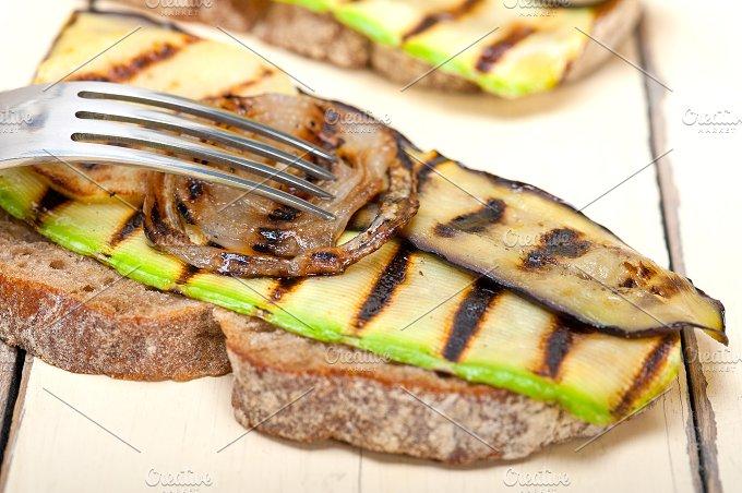 grilled vegetables on rustic bread 028.jpg - Food & Drink