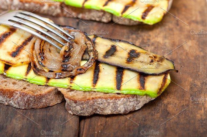 grilled vegetables on rustic bread 033.jpg - Food & Drink