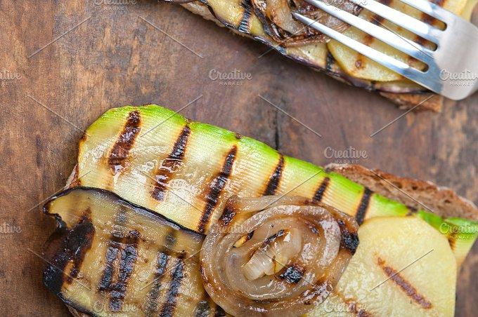 grilled vegetables on rustic bread 039.jpg - Food & Drink