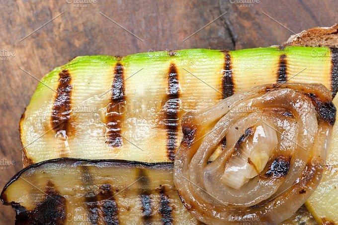 grilled vegetables on rustic bread 040.jpg - Food & Drink