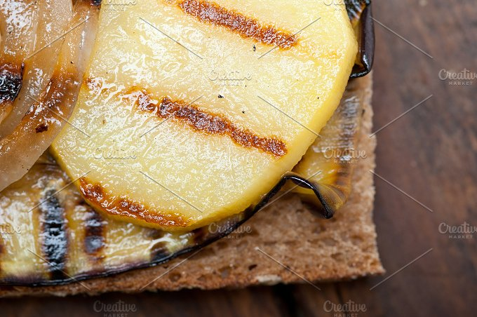 grilled vegetables on rustic bread 041.jpg - Food & Drink