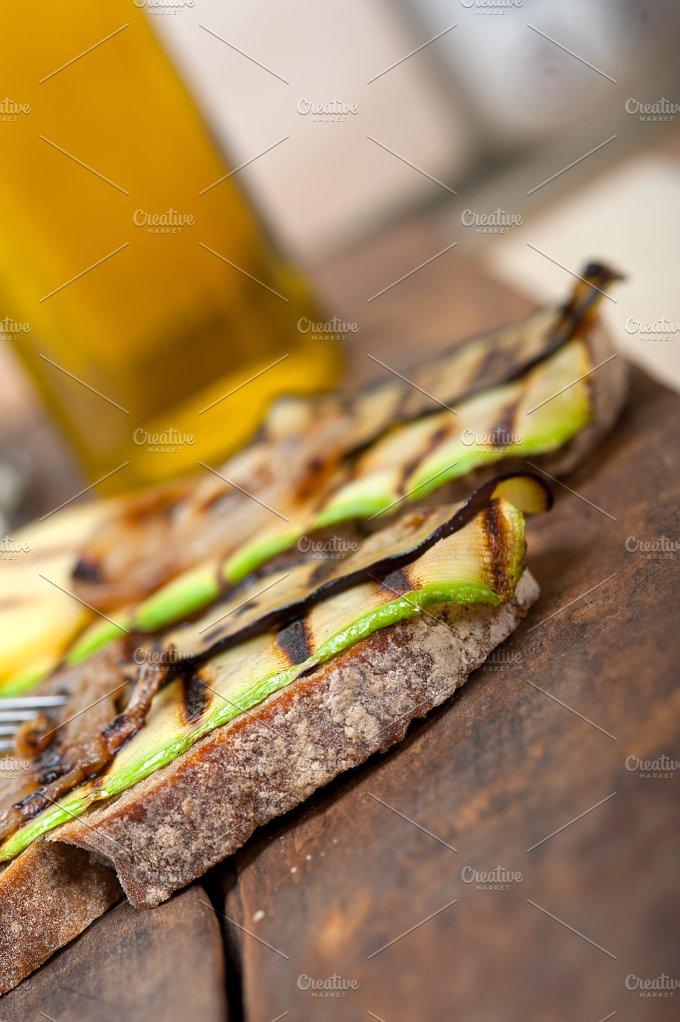 grilled vegetables on rustic bread 045.jpg - Food & Drink
