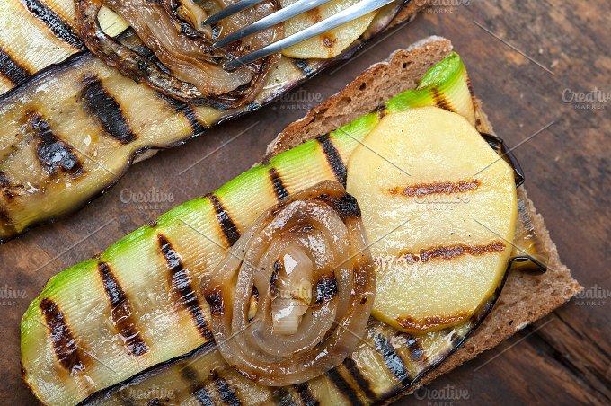 grilled vegetables on rustic bread 044.jpg - Food & Drink