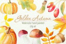 Autumn Watercolor Clip art