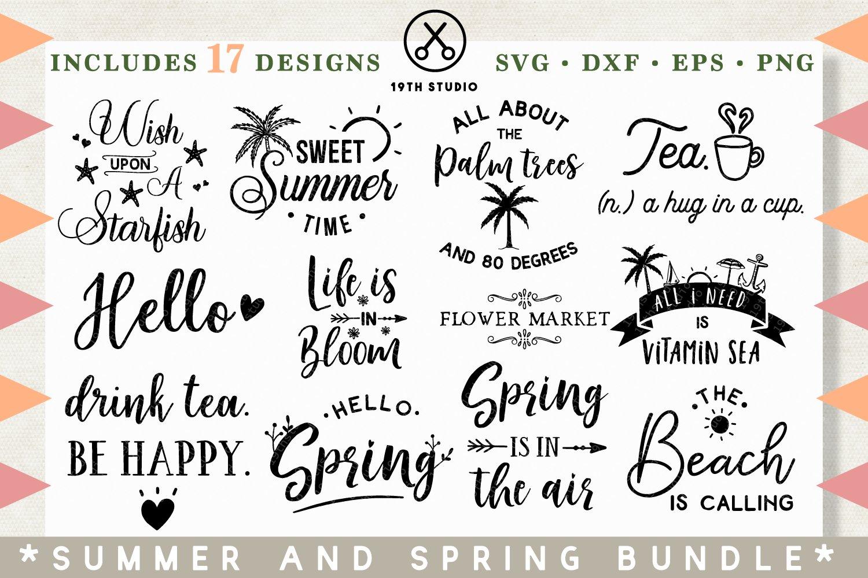 Spring Summer Svg Bundle Mb26 Pre Designed Photoshop Graphics Creative Market