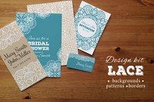 Lace design kit: patterns, borders