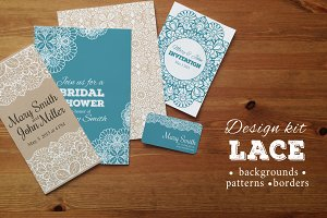 Lace design kit: patterns, borders