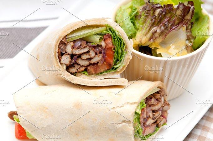 shawarma chichen arab pita wrap sandwich 08.jpg - Food & Drink