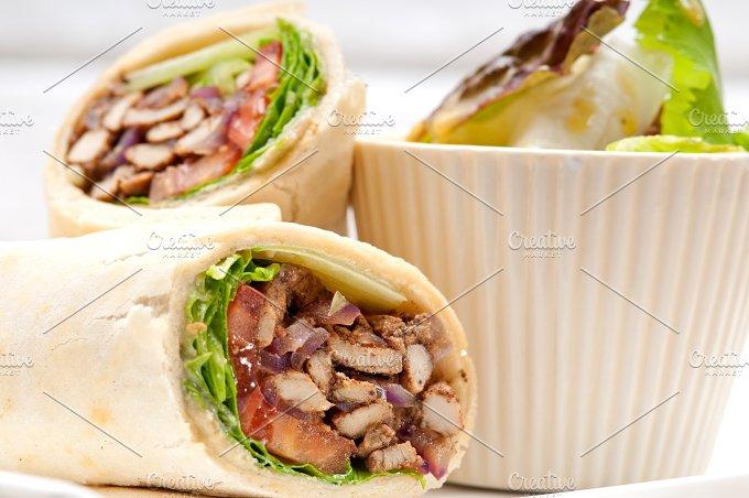 shawarma chichen arab pita wrap sandwich 05.jpg - Food & Drink