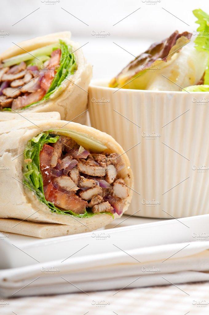 shawarma chichen arab pita wrap sandwich 07.jpg - Food & Drink