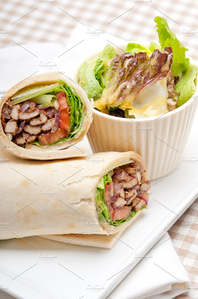 shawarma chichen arab pita wrap sandwich 11.jpg - Food & Drink