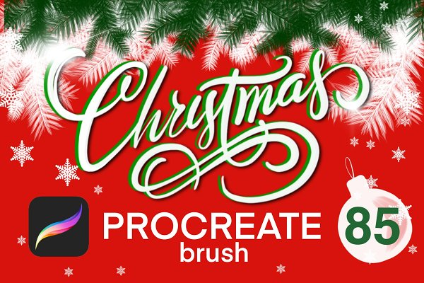 Christmas procreate brush set
