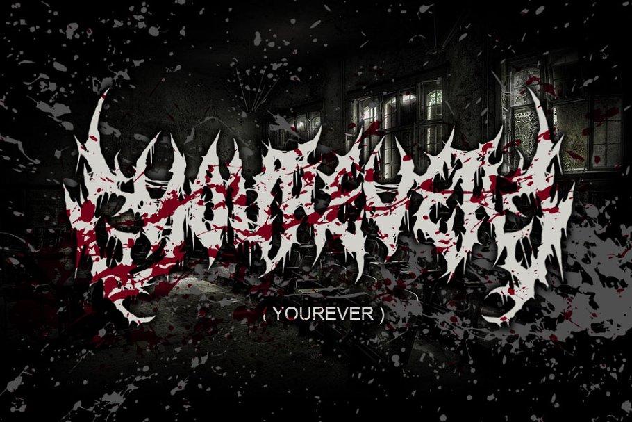 YOUREVER ( BRUTAL DEATH METAL FONT )