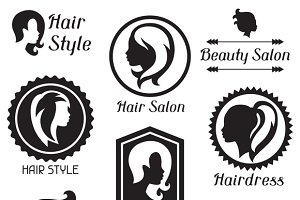 Emblems for hairdressing salon