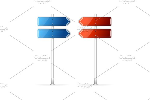 Arrow Template for Text. Vector - Illustrations