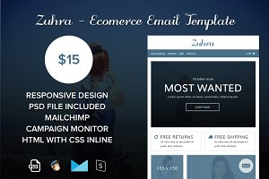 Zuhra - eComerce Email Template