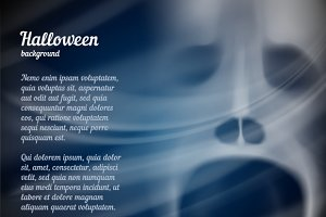 Halloween poster whit ghost