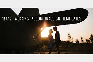"16x16"" Wedding Album Templates"