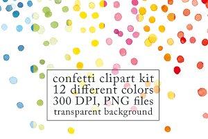 Confetti clipart kit