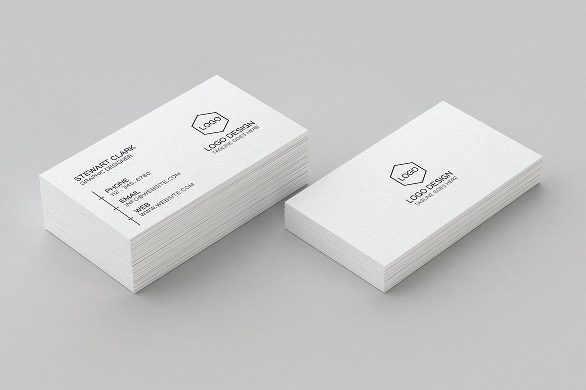 7 Clean Minimal Business Cards ~ Business Card Templates ...