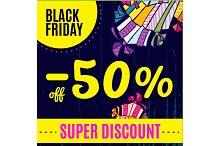 Bright Black Friday sale banner