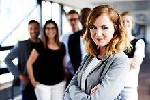 White female executive
