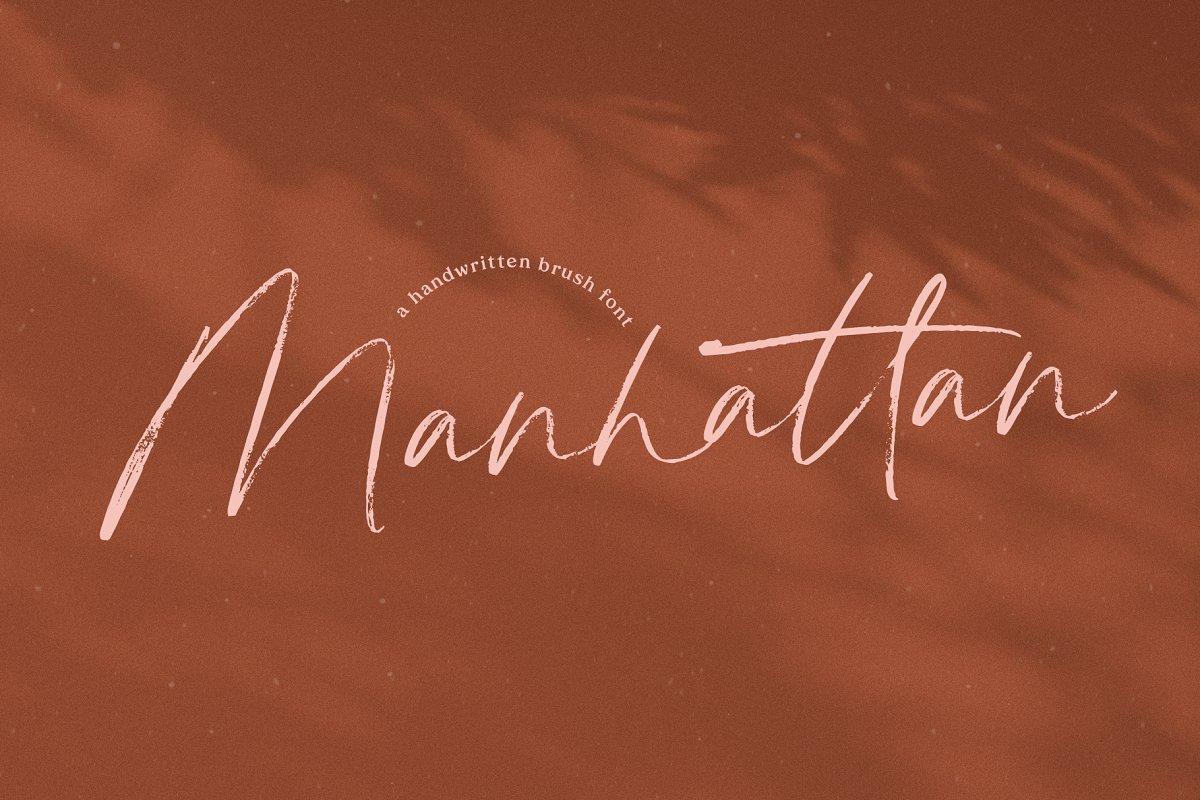 Manhattan | Brush Script Font