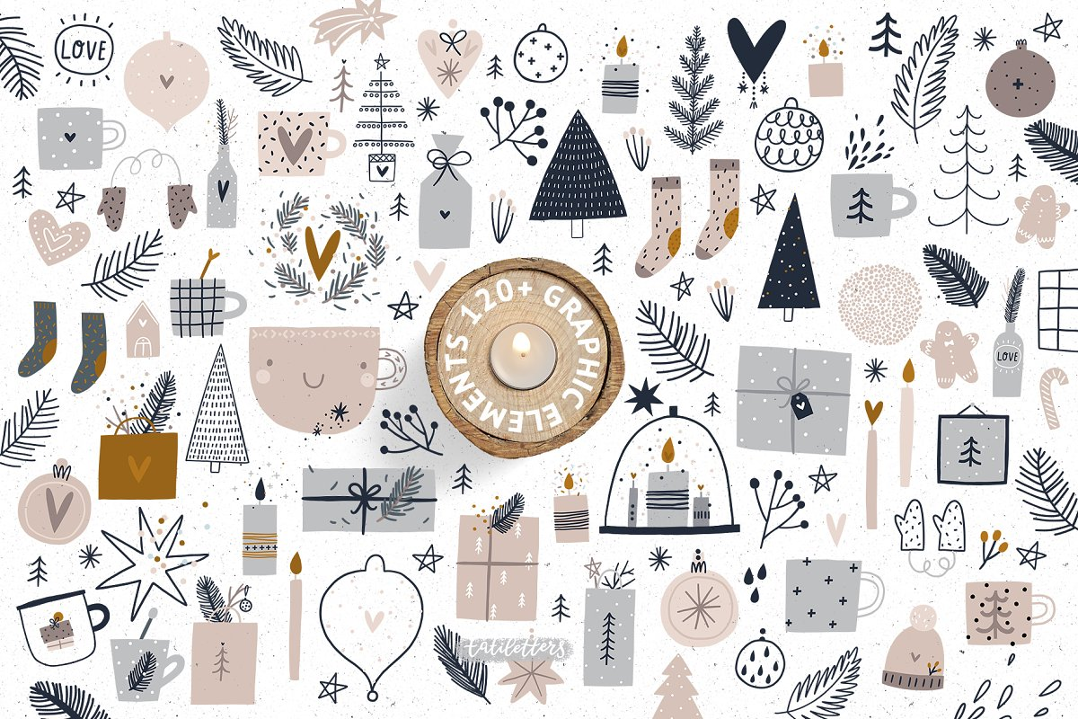 Hygge - Christmas Cards & Patterns in Illustrations - product preview 1