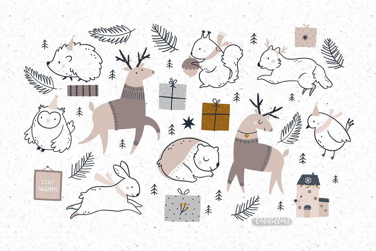 Hygge - Christmas Cards & Patterns in Illustrations - product preview 2