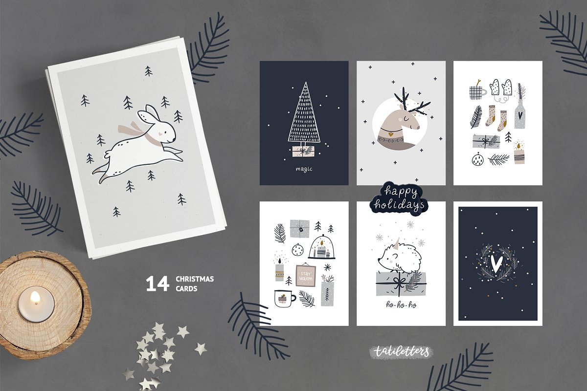 Hygge - Christmas Cards & Patterns in Illustrations - product preview 3