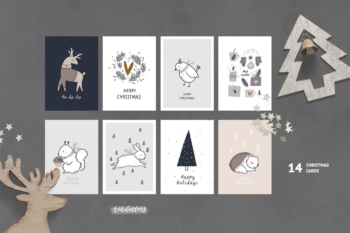 Hygge - Christmas Cards & Patterns in Illustrations - product preview 4