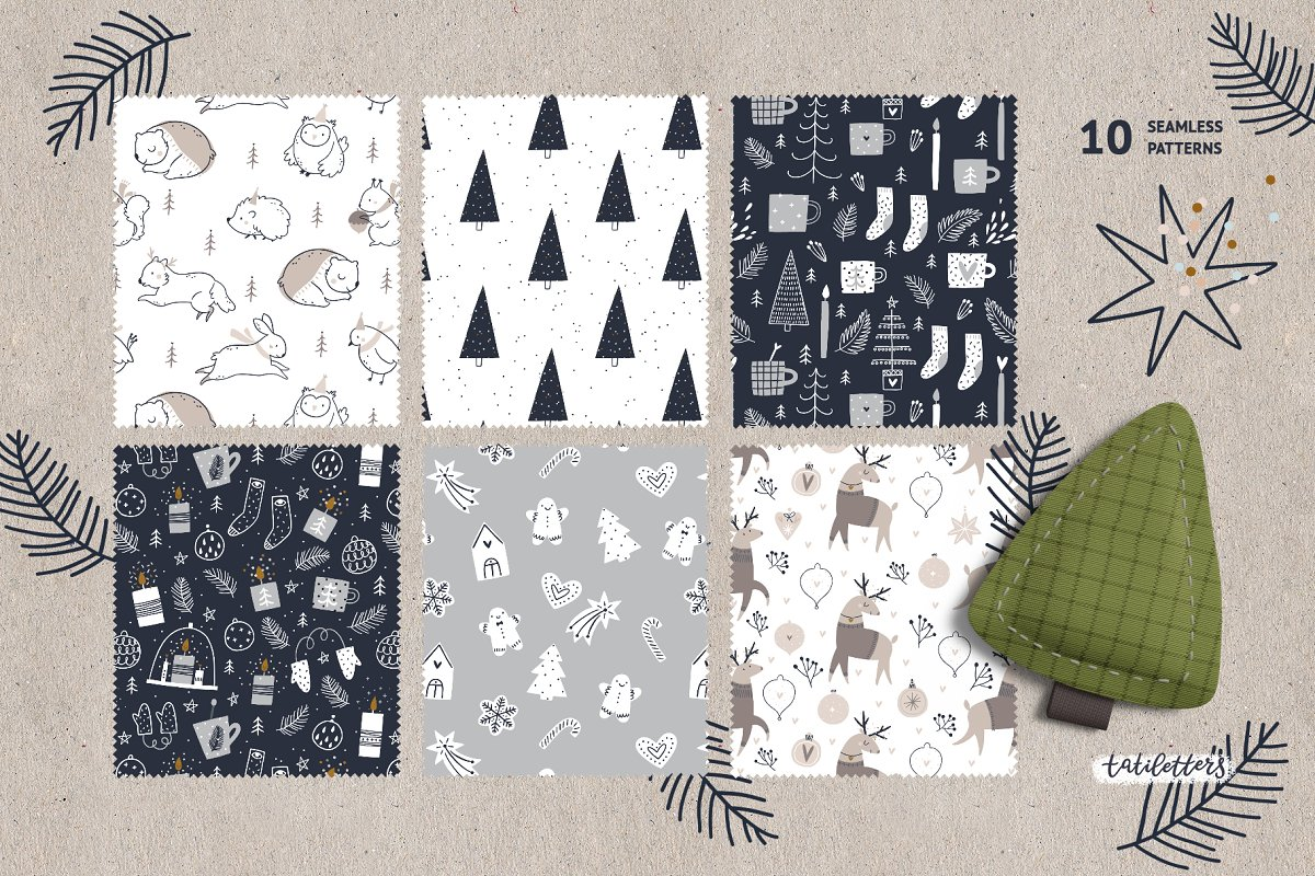 Hygge - Christmas Cards & Patterns in Illustrations - product preview 6
