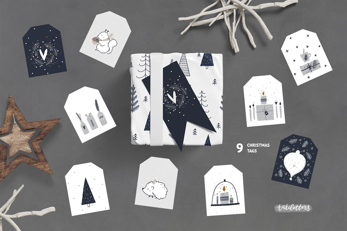 Hygge - Christmas Cards & Patterns in Illustrations - product preview 7