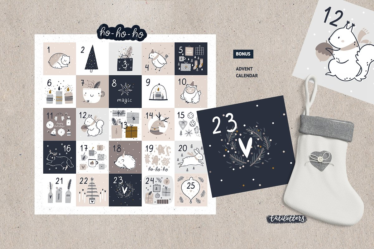 Hygge - Christmas Cards & Patterns in Illustrations - product preview 8