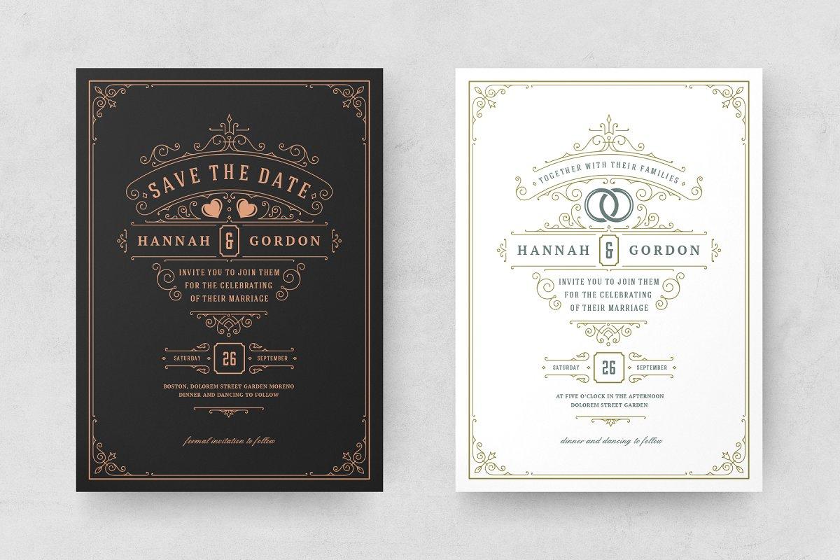 Wedding Invitations Cards Templates