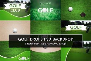 Golf PSD Backdrop